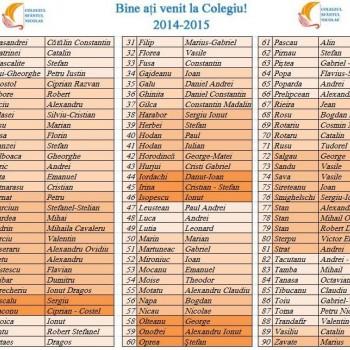 Admiși Colegiu 2014